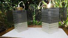 Mid Century Decken-Lampe Lampe 2x Lochblech Glas MATEGOT Style Pendant Lamp