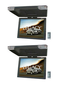 "2) LEGACY LMR15.1 15"" LCD TFT Car/SUV/TRUCK Flip Down Roof Mount Monitors TV IR"