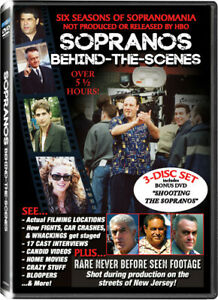 Sopranos Behind-The-Scenes, Vol. 1 & 2 (DVD, 2016, 3-Disc Set) James Gandolfini