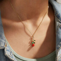 Fashion Women Gold Alloy Rose Flower Charm Pendant Long Chain Necklace Jewelry