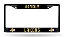 Los Angeles Lakers BLACK Chrome Frame Metal License Plate Tag Cover Basketball