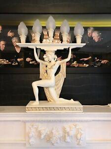 Greek woman lamp candlestick