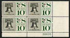 #C57 10c Liberty Bell, Plate Block [26635 LR], Mint ANY 4=