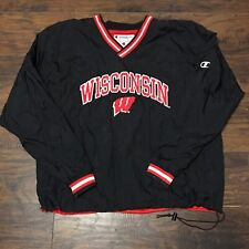 Vintage Wisconsin Badgers NCAA Reversible Champion Pullover Jacket Size XXL