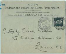 67710 - ITALY - POSTAL HISTORY - SPECIAL COVER 1927: SWIMMING Federation