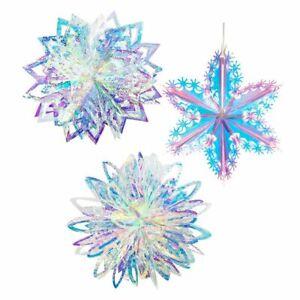 3D Snowflakes Christmas Decorations Home Ornaments Navidad Tree Garlands Decor