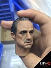 custom 1/6 Scale The Godfather Marlon Brando Head Sculpt with cat