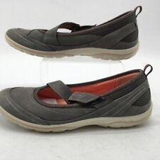 Ecco Womens Arizona Mary Jane Shoes Gray Mesh Hook & Loop 7-7.5 EUR 38