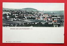 AK LEUTERSDORF bei Neugersdorf 1906 Ortsansicht mit Kirche    ( 17041