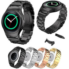 Stainless Steel Watch Band + Connector for Samsung Galaxy Gear S2 SM-R720 R730