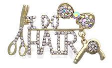 I DO HAIR Scissors Hair Designer Stylist Brooch Pin Beauty Hair Salon Jewelry