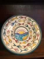 Vintage SAFI MOROCCAN Pottery Bowl Charger Wall Plate  Handpainted