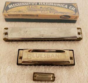 Vintage Harmonica Lot; Mississippi,Hohner International Bluesband,Butterfly,Etc.