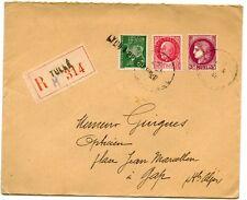 LETTRE ENVELOPPE / AFFRANCHISSEMENT COMPOSE / EN RECOMMANDE TULLES POUR GAP 1947