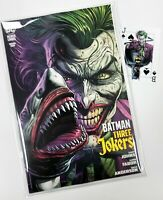 BATMAN THREE JOKERS #1 - 2nd Print Shark Variant +1 Playing Card with Mylites NM