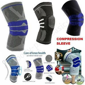 KNEE SUPPORT COMPRESSION SLEEVE BRACE ARTHRITIS PAIN RELIEF GYM SPORTS RUNNING