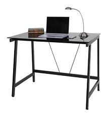 Writing Desk Modern Office Furniture Table Computer PC Steel Frame Back Glass