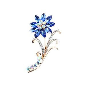 Fashion Crystal Flower Butterfly Brooch Pin Collar  Women Jewelry Decoration