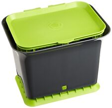 Full Circle Fresh Air Odor-Free Kitchen Compost Collector - Slate & Green