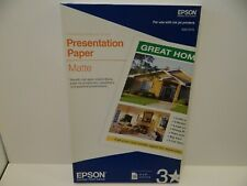 Epson Presentation Paper, 11x17, Matte, 100 Sheets, S041070