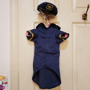 Casual Canine K-9 Dog Cop Costume Size Medium MISSING PLASTIC CUFFS