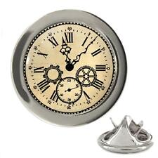Vintage Style Clock Metal 20mm Lapel Pin
