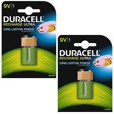 2 X Batería recargable NiMH Nuevo Duracell 9 V PP3 6LR61 MN1604 170 mAh Capacidad