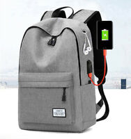 New Mens Canvas School Backpack Casual Notebook Travel Laptop Bag BR