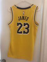 Lebron James Lakers Nike NBA  #23 Jersey Swingman Yellow S Small 40 Authentic