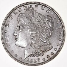 Raw 1887 Morgan $1 Uncertified Ungraded US Mint Silver Dollar Coin