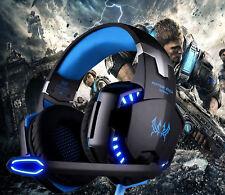 G2000 Spiel Gaming Kopfhörer Headset PC Mikrofon LED Surround Sound Stereo Bass