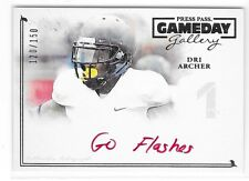 2014 PRESS PASS GAMEDAY #GG-DA2 DRI ARCHER RED INK GO FLASHES INSCRIPTION AUTO