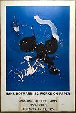 "1974 HANS HOFMANN ""52 Works On Paper"" ORIGINAL ART POSTER Museum of Fine Arts"