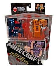 Minecraft Squid, Snow Golem &  Amp; Alex in Enchanted Armor Mini Figure 3-Pack