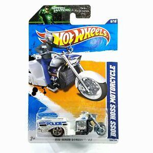 Hot Wheels Boss Hoss Motorcycle White 2011 #168 Main Street #8 New on Card