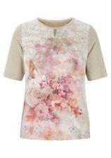 Kurzarm Damen-T-Shirts mit Rundhals-Ausschnitt aus Viskose