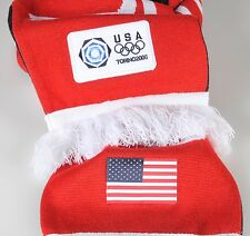 Olympics Torino 2006 USA Team Scarf & Hat Roots Official Unisex Italy Winter