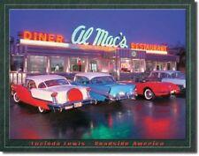 AL-MAC'S AMERICAN DINER & CARS METAL TIN SIGN VINTAGE RETRO F.U.M. TOOLS FUM
