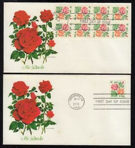 1978 Roses Sc 1737a Masterpiece & Medallion 2 covers Fleetwood cachets
