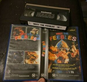 MEET THE FEEBLES SEX DRUGS AND  SOFT TOYS VIDEO VHS VIDEO PAL - no barcode