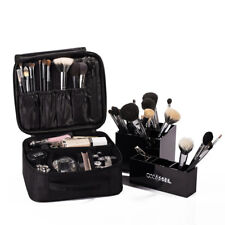 Makeup Cosmetic Case Beauty Box Storage Tool Brushes Bag Organizer Boxes Black