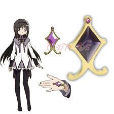 Cafiona Puella Magi Madoka Magica Akemi Homura Cosplay Accessory Purple Jewelry