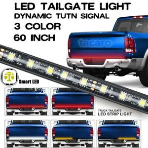 """60"""" Redline TRIPLE-CORE 3in1 LED Tailgate Light Bar Sequential Turn Signal Strip"""