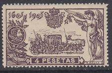 QUIJOTE ** 265 - AÑO 1905 - 4 PESETAS - NUEVO CON GOMA ORIGINAL SIN FIJASELLOS