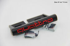 B219 Quattro 3D Kühlergrill vorn Emblem Badge car Sticker Frontgrill schwarz rot