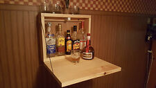 Rustic Murphy Bar Man Cave Liquor Cabinet   Fold Up Bar Wallmount