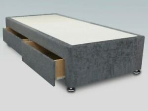 Chenille Fabric Divan Base - 4 Sizes And 6 Colours Available *BRAND NEW*