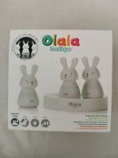 Veilleuse Olala Boutique Trio de lapins Blanche