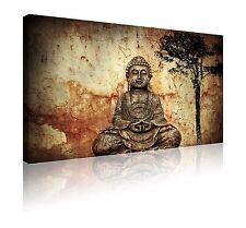 "Grande 20"" X 30"" imagen tranquila Buda Zen Pared Arte Cuadro Lienzo Libre P&P"