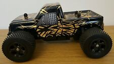 Grandi MONSTER TRUCK RICARICABILE RADIO TELECOMANDO AUTO Fast Speed 1:16 Nero